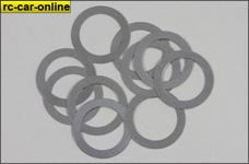 y0043 Stahlpassscheiben DIN 988 15 x 0,2 x 21 mm, 10 St.