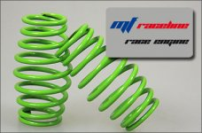 y0488 mf-RaceLine Cask shaped springs, green 2,5 mm, 2 pcs.
