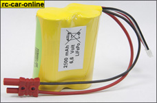 y0664/01 LiFePo RX battery pack 6,6 V /2.500 mAh, 1 St.