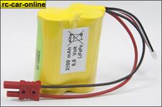 y0664/01 LiFePo Empfängerakku 6,6 V /2.500 mAh