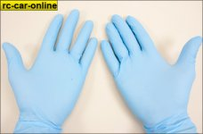 y0681 Nitrile disposable gloves, powder free, 10 pcs
