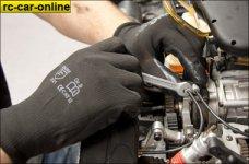 y0682 HighTech Mechanikerhandschuhe Nitril, schwarz, 2 St.