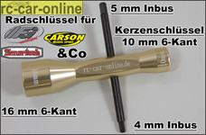 y0771 Universal Alu-Kerzen- und Radschlüssel 16/10 mm m