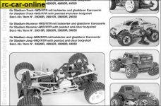 y0961/01 FG Anleitungsset für Beetle/Monster Sportsline