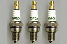 y1243 Set of 3 Torch CMR7H spark plugs f. Zenoah, CY, Reely,