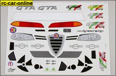 y1255/01 Alfa Romeo 156 WTCC RACING Fahrzeug-Dekorbogen