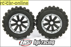 y1409/01 GIANT GRIP tires on MadMax Extreme rims for Losi an