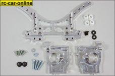 y68400 Alu-Dämpferplatte/-Hinterachsböcke 4WD, Set