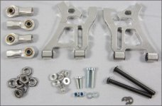 y68401/01 Rear lower alloy wishbones small, set